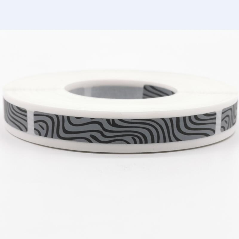 1000pcs 8x65mm Manual SCRATCH OFF STICKER LABEL  Zebra Pattern Tape In Rolls Code Covering Film