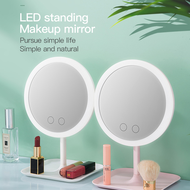 Makeup mirror with led light Dressing table mirror beauty ring light mirror Beauty Tools For Photo fill light small mirrors 2