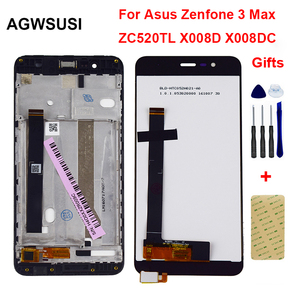 For ASUS Zenfone 3 Max ZC520TL X008D LCD Display Monitor Screen Panel + Touch Screen Digitizer Sensor Panel Glass Assembly Frame(China)