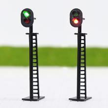 JTD03 5 шт. модель железной дороги 2-светильник 1: 87 блок сигнала зеленый/красный светофоры HO Масштаб 6 см 12 В Led