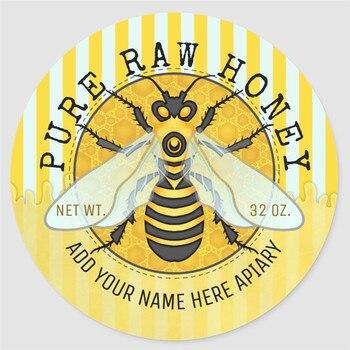 Spersonalizowany prezent naklejki słoik na miód etykiety | Honeybee Honeycomb Bee pasieka