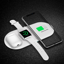 10W Wireless Charger 3 in 1 Support Multiple Electronics Charging Dock Stand for Phone Wireless Power Adapter Station