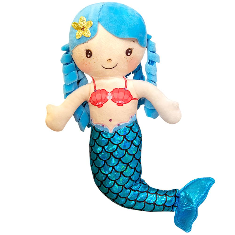 Funny Mermaid Soft Toys Bed Pillow Lightweight Parts Pretend Playing Dolls Children Accessories for Birthday Gifts