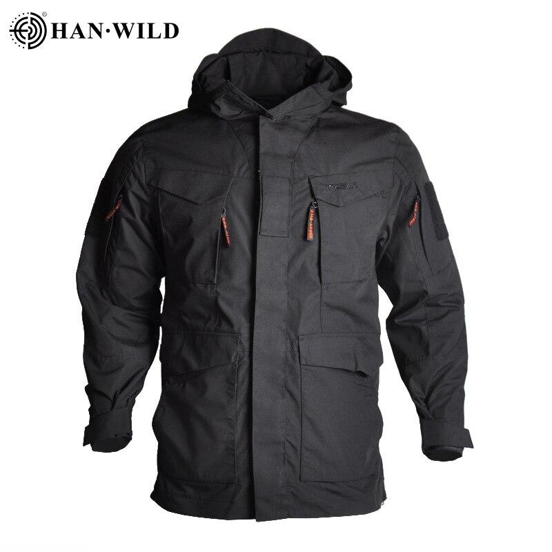 האן פראי M65 טקטי מעילי מעיל רוח טיולים קמפינג מעילים חיצוני הסווטשרט ספורט מעיל גברים רב כיס מעילים עמיד למים
