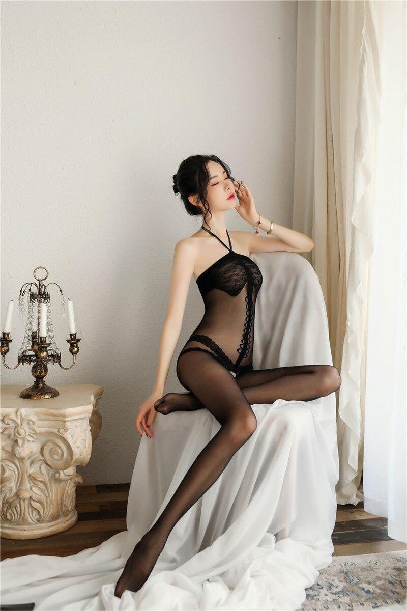 H9cfc49f65af04a6783b1c945a135d1a1f Lencería Sexy íntima para mujer, disfraces sexys de osito, kimono porno, mono de manguera, ropa interior, medias elásticas de malla de color negro ajustado