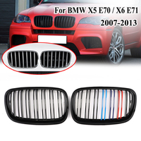 MagicKit 2x Front Kidney Grille Gloss Black MColor for BMW E70 E71 X5 X6 Series 2007-2013