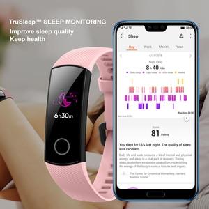 Image 4 - Honor band 5 banda inteligente versión Global de oxígeno en la sangre smartwatch AMOLED Huawei banda inteligente corazón ira ftness dormir rastreador