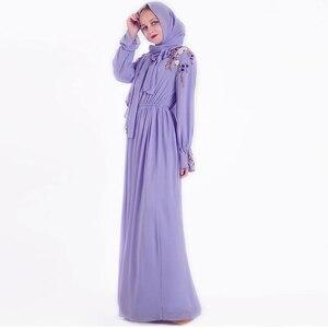 Image 4 - Eid Vestidos muslim fashion Hijab Dress Abaya dubai Turkey islamic clothing Caftan Kaftan Moroccan Robe de roupa americana