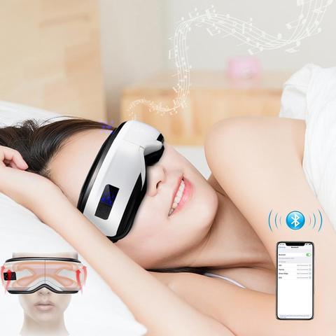 El trica bluetooth olho massageador m scara enxaqueca vis o melhoria cuidados com os olhos