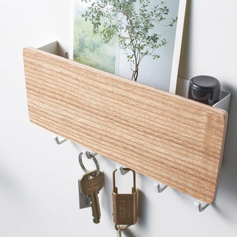 Estante de almacenamiento colgador de madera para llaves Pared de Casa Vintage pasillo hogar ahorro de espacio pequeño dormitorio puerta trasera estante decorativo para habitación