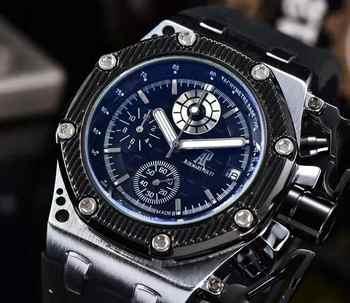 Hommes montres haut de gamme marque de luxe analogique montre hommes en acier inoxydable tanche Quartz montre-bracelet Date