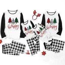 Рождественские новые одинаковые рождественские пижамные наборы для всей семьи Рождественская одежда для сна для детей и взрослых Ночная одежда Повседневная семейная одежда