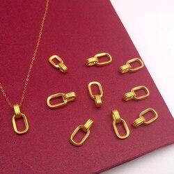 ZHIXI prawdziwe 18K złota biżuteria AU750 naszyjnik łańcuch dla kobiet Trendy Party prezent czysta 24K 999 żółty złoty wisiorek Fine Jewelry X54