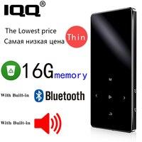 Iqq nova versão x2 bluetooth mp3 player de música com alto-falante e embutido 16 gb de alta fidelidade leitor de música portátil com rádio/registro