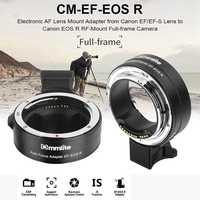 Commlite CM-EF-EOS R adaptador de montaje para lentes adaptador de montaje de enfoque automático electrónico con función IS Control de apertura para Canon EF/EF-S