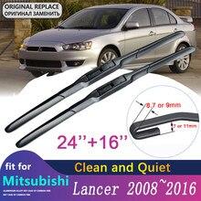 Limpiaparabrisas para coche Mitsubishi Lancer, hoja de limpiaparabrisas para coche Mitsubishi Lancer 2008 ~ 2016, Ralliart EVO X Galant Fortis EX, Winddow, accesorios para coche, productos