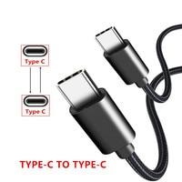 0,25 m/1 m/2 m rápido de carga de Cable USB tipo C a tipo C, Cable de sincronización de datos para Oneplus T 7 Huawei Nova 5t 4 3 Pro Samsung A80 A70 S8