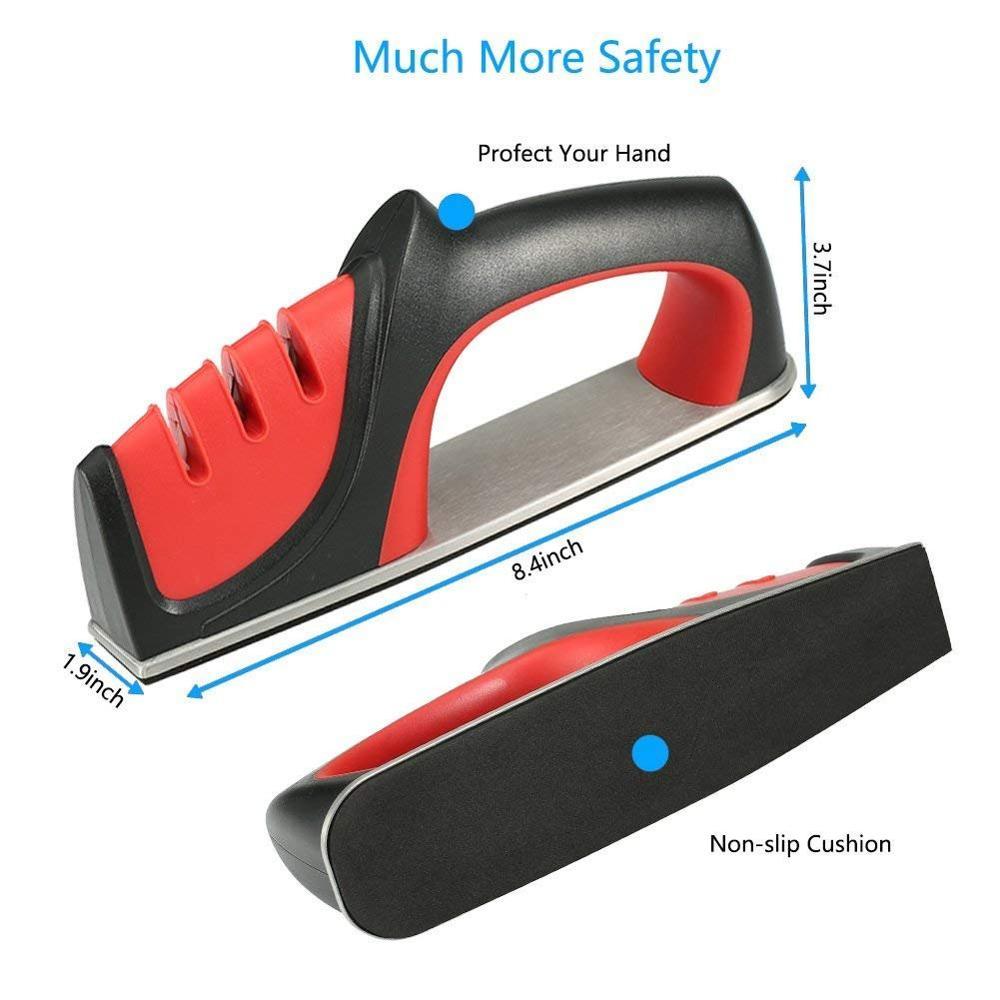 Точилка для ножей 3 этапа профессиональная быстрая кухонная заточка камень, алмаз керамические ножницы точилка для ножей Точило
