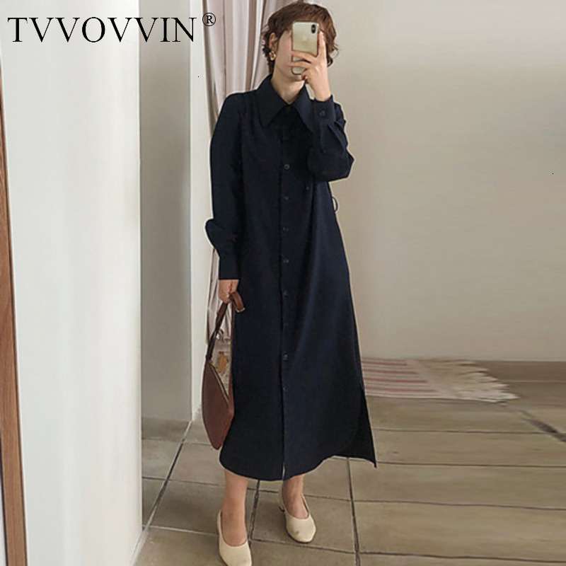 TVVOVVIN Korean Style Temperament Women Windbreaker Solid Color Casual   Trench   Coat For Women Single-breasted Autumn 2019 X939