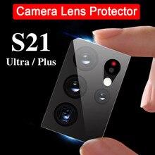3 pièces lentille de caméra Ultra mince Protection Film en fibres souples pour Samsung Galaxy S21 Ultra Plus S20 FE A12 A21S A51 A71 A31 A70 A50 A30
