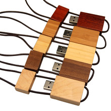 Rope Plus Wood Usb Flash Drive Pendrive Usb 2.0 Real Capacity 4G 16G 8G 32G 64G Usb Flash Disk Memory Stick for Wedding Business(China)