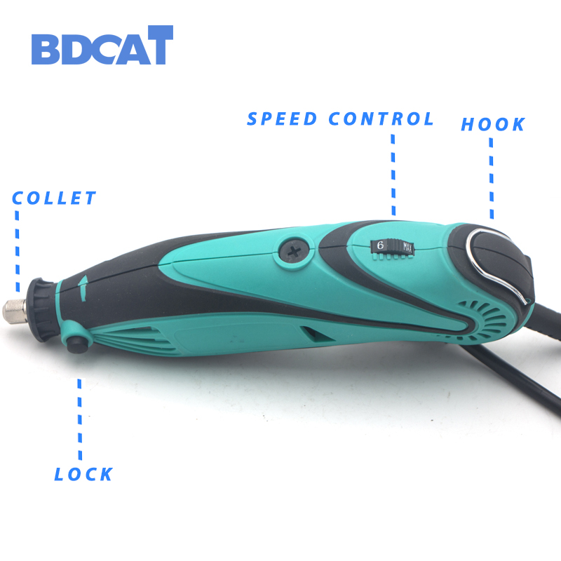 Image 3 - BDCAT 180W Electric Grinder Tool Mini Drill Polishing Variable Speed 207pcs Rotary Tool Kits with Power Tools Dremel AccessoriesElectric Drills   -