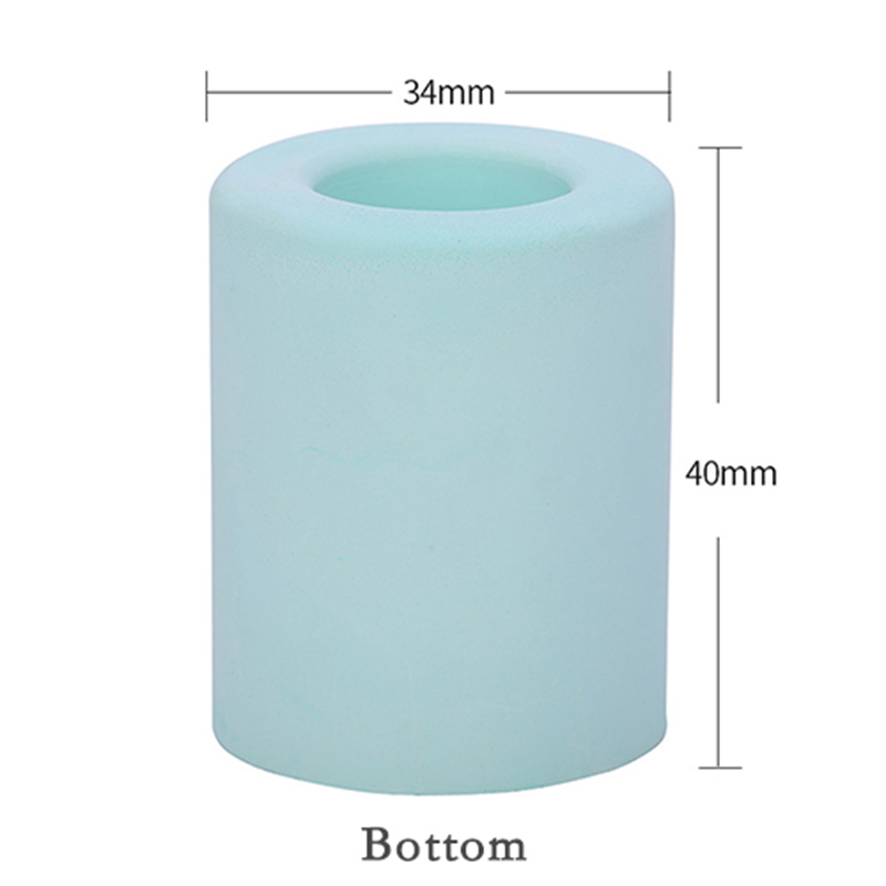 1pcs Single Hole Round Absorbent Diatomite Toothbrush Holder Stand For Bathroom Vanity Countertops Toothbrush Storage Rack