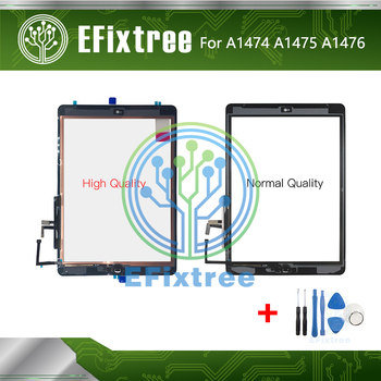 New A1474 A1475 A1476 Touch Panel Display Screen With Stickers For iPad Air A1474 A1475 A1476 Glass Digitizer With Home Button image
