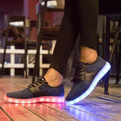 เด็ก USB Charger glowing Casual Lighted รองเท้าสำหรับ Boy & Girl Casual led รองเท้าเด็กรองเท้าแตะ led Luminous Casual
