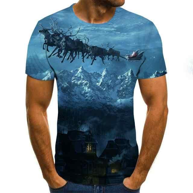 2020 新星空 3dプリントtシャツの男性の夏カジュアル男のtシャツトップスティーおかしいtシャツストリート男性サイズXXS-6XL
