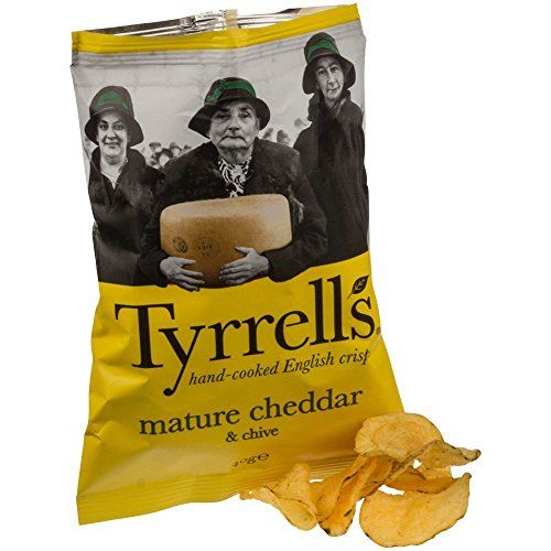 Tyrrells Cheese & Chive Crisps 40 G (order 24 For Trade Outer)
