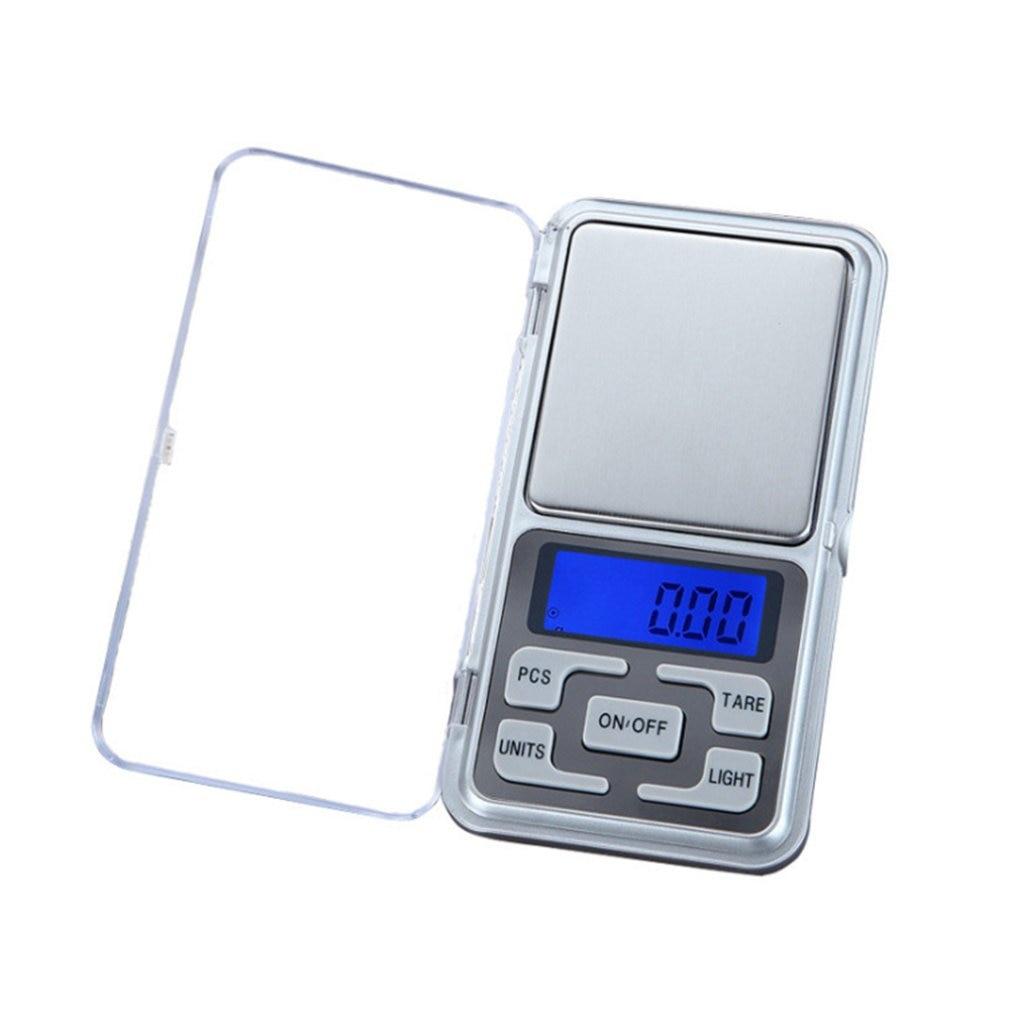 Báscula electrónica para hornear cocina báscula inglés 500g/0,1g báscula de alta precisión Balanza de joyería de acero inoxidable Mini báscula de bolsillo