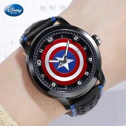 Дисней Марвел кварцевые детские часы Мстители Лига американского капитана часы для мальчиков водонепроницаемые 3 бар пряжка пластик