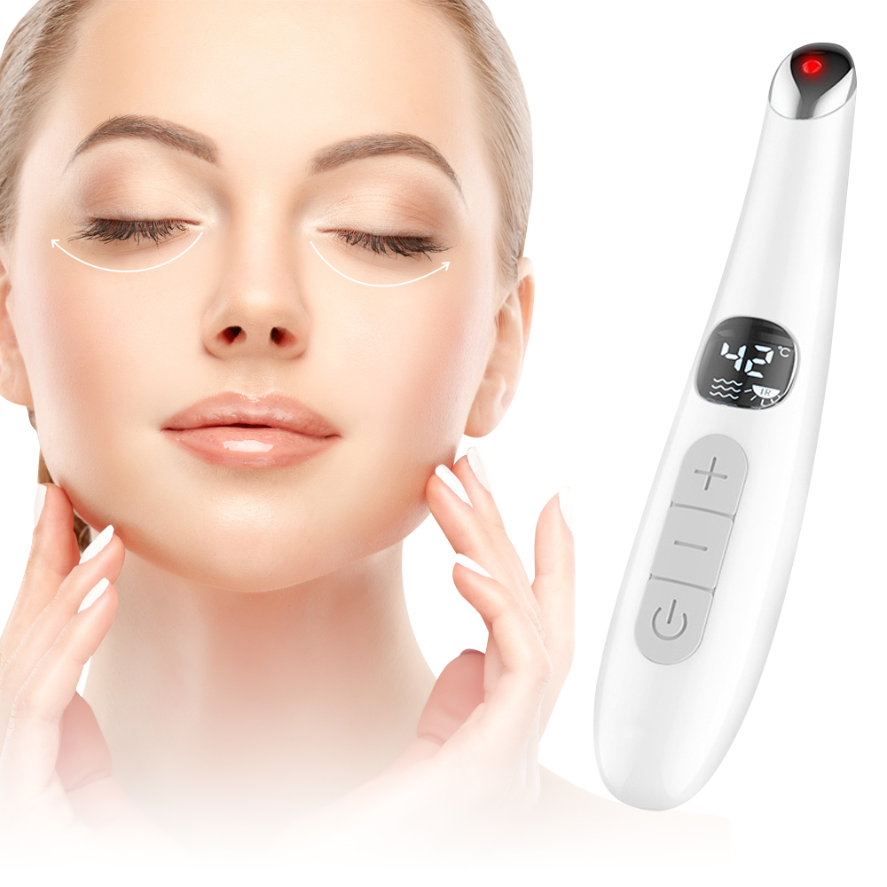 Electric Eye Massage Pen Heating Eye Massager Anti Wrinkle Anti Aging Eye Care Lip Care Remove Eye Bag Device Skin Care Tools