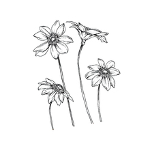 Clear Stamps 4pcs Flowers Rubber Transparent Stamp Silicone Scrapbooking for Card Making Album Craft Decoration New 2019