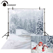 Allenjoy Christmas background photographic snowy trees flake winter wonderland wedding photography backdrop for photo studio