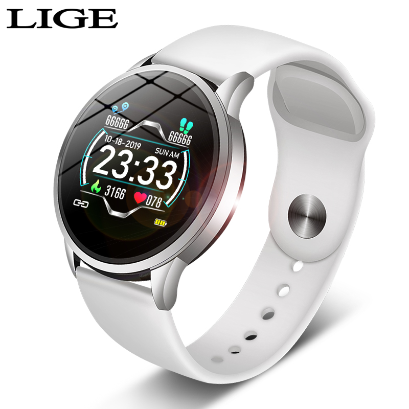 2019 New fashion Woman Sport Smart Watch for Android IOS IPhones Waterproof Touch Screen Sports Health Smart Women's Wristwatch
