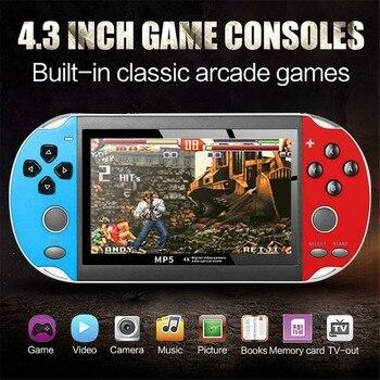 Классическая игровая консоль в стиле ретро, портативная консоль с 800 встроенными 4,3 дюймовыми играми, запомните детство, игровой реквизит для помещений # g30