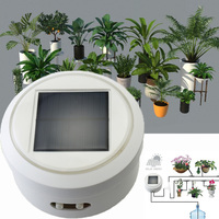 1 Sets Intelligent garden automatic watering device solar charging succulent plant drip irrigation tool water pump timer system