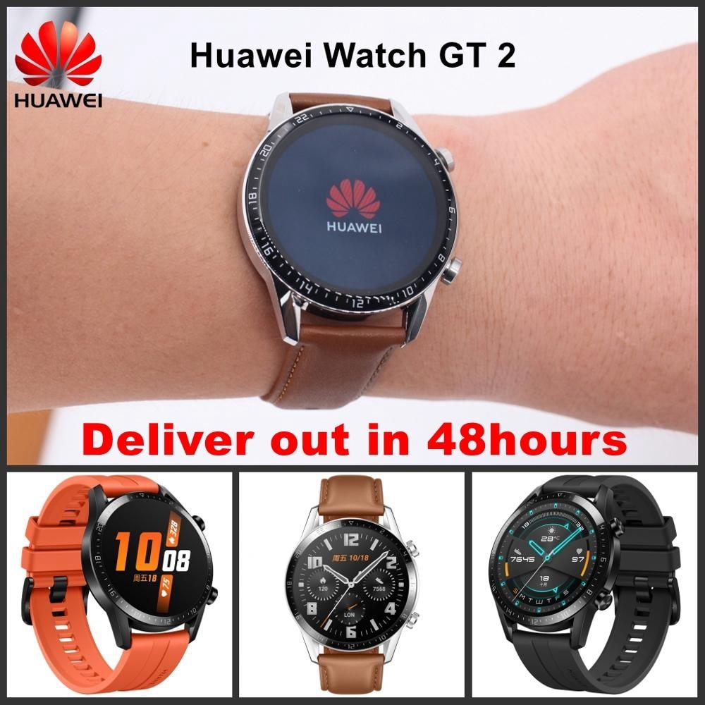2019 New Huawei Smart Watch GT 2 Multi Language 46mm Waterproof Sports Watch Bluetooth Phone Call music player Watch