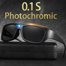 Photochromic sunglasses men with polarized len transition eyewear discoloration