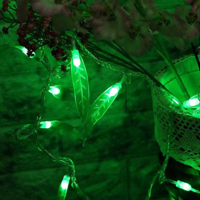 10M 100 LED String Verde Foglia di Salice All'aperto Luci Leggiadramente Della Stringa di Festa Camera Da Letto Festa A Casa di Natale Albero Di Natale