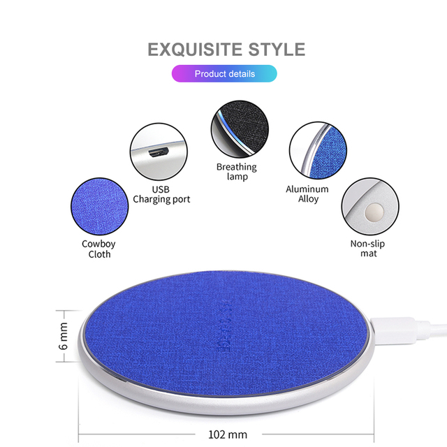 HEYPOD Wireless Charger For iPhone 11 X XR 8 plus 10W QC Fast Wireless Charging For Samsung S9 S10 S8 Note 7 8 9 USB Charger Pad 2