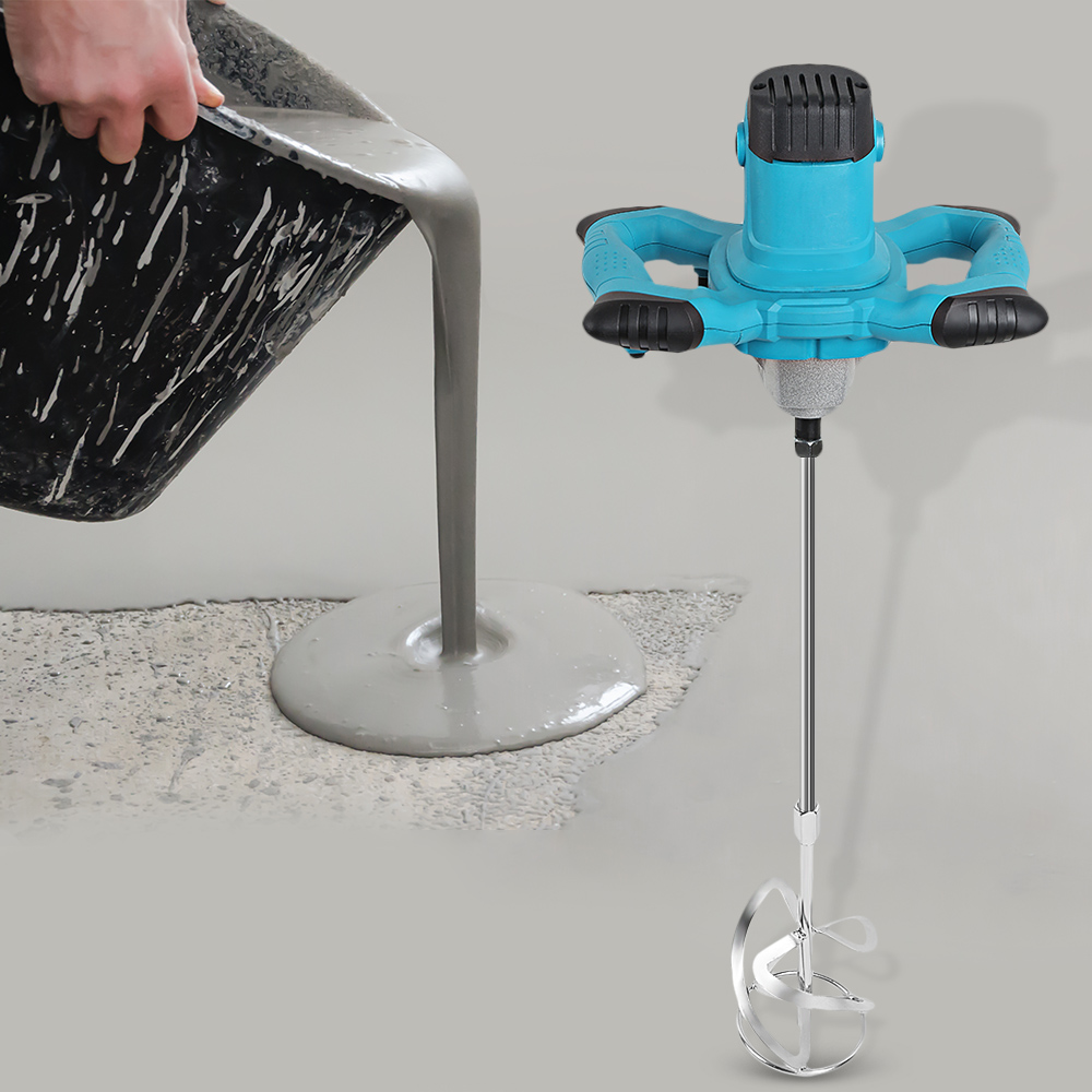 1800W Handheld Electric Paint Coating Cement Mixer Regulating For Concretes Grouts Mixing