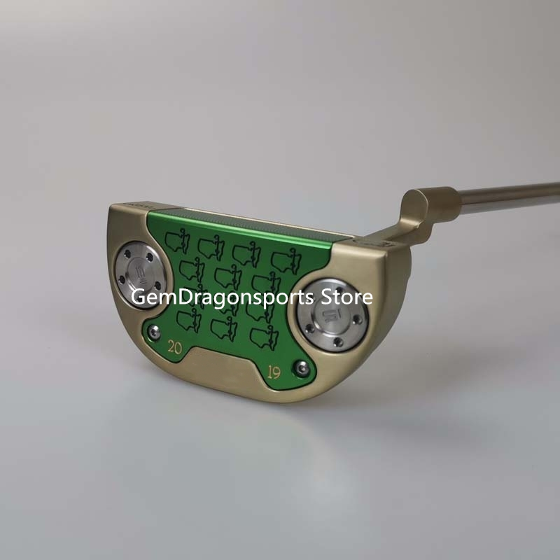 2019 New Map Golden Semicircle Putter Steel Shaft Golf Club With Pole Sleeve Free Shipping