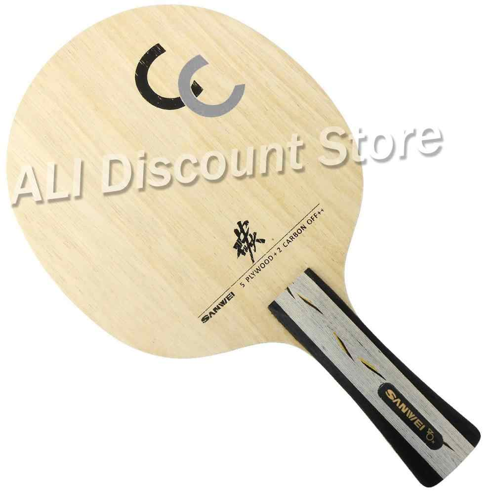 Sanwei CC (5 Wooden + 2 Carbon) OFF++ Table Tennis Blade for Ping Pong Racket