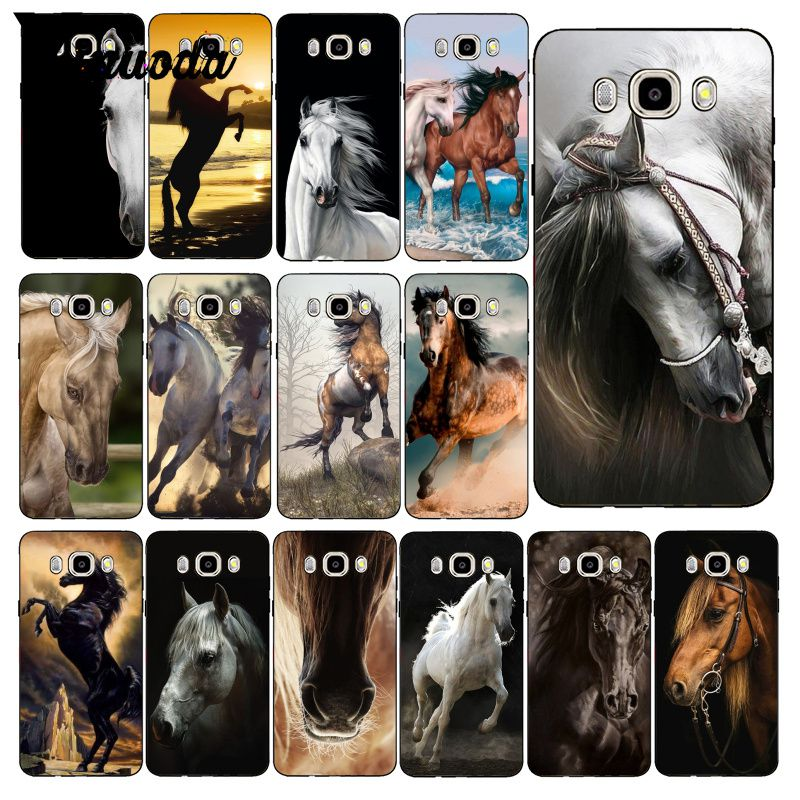 Yinuoda Running <font><b>Horse</b></font> Animal Coque Phone <font><b>Case</b></font> For <font><b>Samsung</b></font> <font><b>Galaxy</b></font> J7 J6 J8 J4 J4Plus J7 DUO J7NEO J2 J5 Prime image