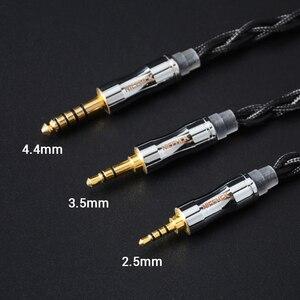 Image 5 - NICEHCK C4 1 6N UPOCC cuivre argent plaqué câble 3.5/2.5/4.4mm prise MMCX/2Pin/QDC/NX7 broche pour LZ A7 MK3 Moondrop TANCHJIM EBX21