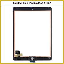 10 pz nuovo per iPad Air 2 Touchscreen per iPad 6 A1566 A1567 pannello Touch Screen sensore digitalizzatore sostituzione vetro frontale LCD