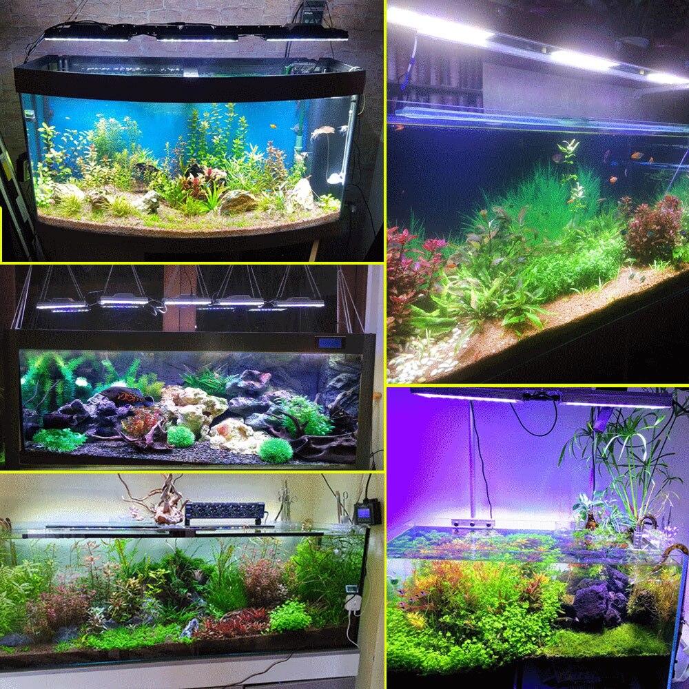 Купить с кэшбэком 2PCS PopBloom Freshwater Aquarium Led Lighting Planted Tank Lighting Led Lamp for Aquarium Light  6500k Led Grow Lights Turing30